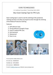 Euro Blue Seam Sealing Tape For Ppe Suits