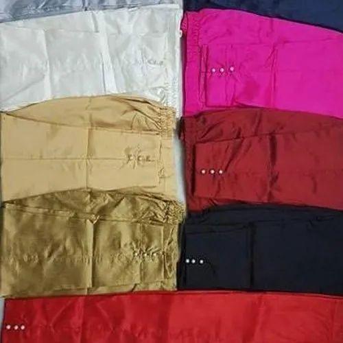 Pleated Pants Skinny Fit Ladies Plain Cotton Pant
