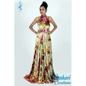 Ladies Floral Print Sleeveless Casual Gown, Size: S-xl