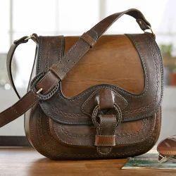 D S Brown Las Leather Bag