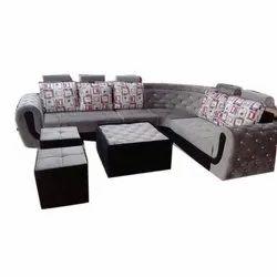 Hutaib Furniture Corner Sofa Set, For Home