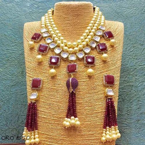 1efc62488711b kundan Necklace. - Kundan Necklace Sets Manufacturer from Jaipur