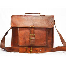 Men Goat Leather Shoulder Bag