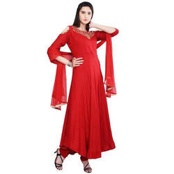 Red Silk Frok Suit