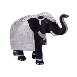 Black Color Terracotta Elephant