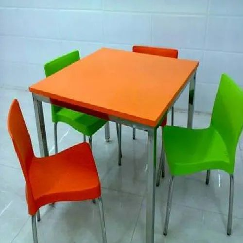 Stainless Steel Korean Top Dining Table With Chair Id 22344232030