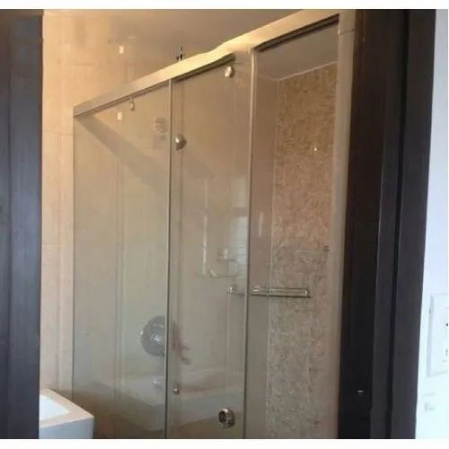 Bathroom Plain Glass Shower Partition at Rs 525 /square ...