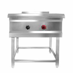 Single Stock Pot Stove, Size: 600x600x600 Mm