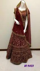 Red Net Bridal Wear