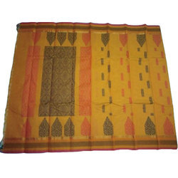 Ethnic Cotton Saree, 5.5 M Separate Blouse Piece