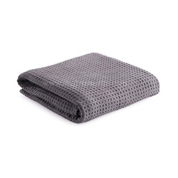 Natural Cotton Grey Throw Blanket