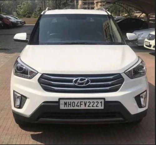 White Hyundai Creta 1 6 Gamma Sx Plus 2015 Rs 1150000 Piece Id