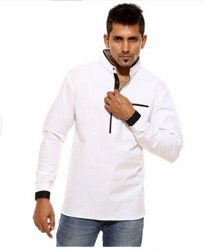 white shirt kurta