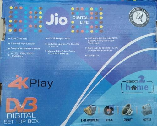 Jio (free To Air) Digital Satellite Receiver (set Top Box)