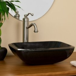 Black Glossy Finish Marble Wash Basin