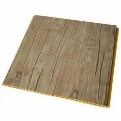 Hengyu laminated Wood Finish PVC Panel, Size: 30 Mm * 3050 Mm, Thickness: 0.6mm