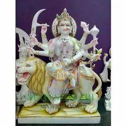 Marble Goddess Durga Mata Moorti