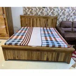 Teak Wood Bed with Storage