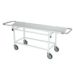 Stainless Steel, Ms Patient Stretcher Trolley, For Hospital Furniture
