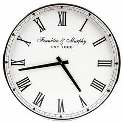 SWHF Silver Wall Clock