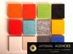 Multicolor Fiberglass Polyester Fiber Acoustic Panel