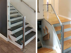 Steel and Glass Handrail Baluster