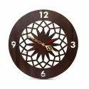 Designer Wooden Round Wall Clock