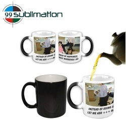 Black And Red Sublimation Magic Mugs