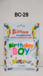 BC-28 Birthday Boy Candle