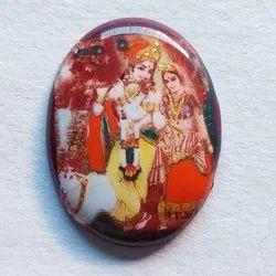 Radha Krishna Photo Stone