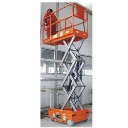 Stainless Steel Orange Self Propelled Scissor Lift Rental, Application/Usage: Industrial