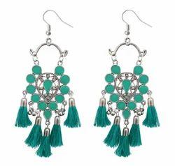 Tiptop Fashions Engagement Afghani Thread Earrings