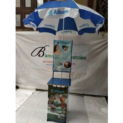 Cross Promotional Table With Umbrella