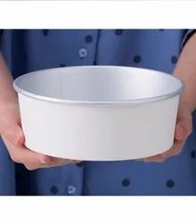 GUJARAT SHOPEE White Aluminium Foil Laminated Paper Bowl With Compartment Tray, Set Contains: 100