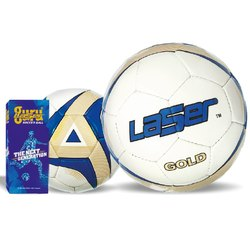 Laser Gold Soccer Ball