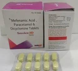 Smolex-3d-Mefenamic Acid Paracetamol &Dicyclomine