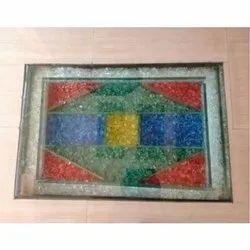 Multicolor Printed Glass Flooring