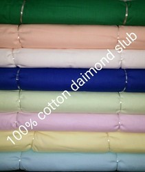 Cotton Diamond Slub Fabric