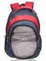 Navy Blue & Red Moon Laptop Backpack Bag