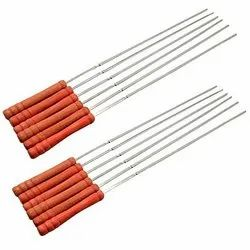 Barbecue BBQ Grill Skewer Sticks Heavy Stainless Steel (179-7)