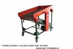 Vibratory Sand Siever With Break Wheels