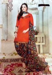 Printed Cotton Salwar Patiala Suit Set