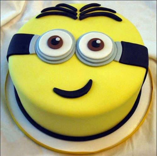 Yellow Minion Cake 1kg Vanilla Birthday