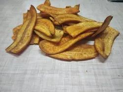 Spicy Banana Chips, Packaging: 100 gm