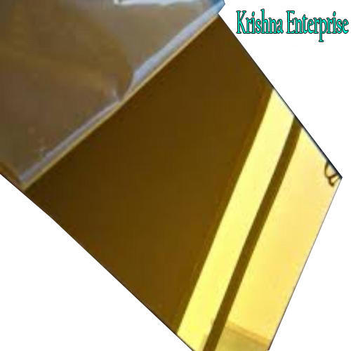 Acrylic Golden Mirror Sheet Thickness 1 5 25 Mm Rs 85 Square Feet Id 20362035648