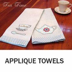 Cotton Patch Work Applique Towels