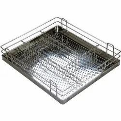 Stainless Steel Perforated Cutlery Basket for Home