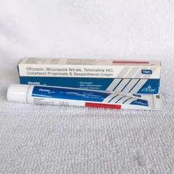 Ofloxacin, Miconazole Nitrate,Terbinafine HCI, Clobetasol Propionate & Dexpanthenol Cream
