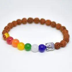 Multi Colour Stone 7 Chakra -7 Balancing Bracelet