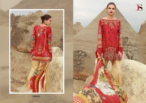 2cc457bca8 Unstitched Cotton Deepsy Muslin Vol No-2 Pakistani Salwar Kameez, Rs ...